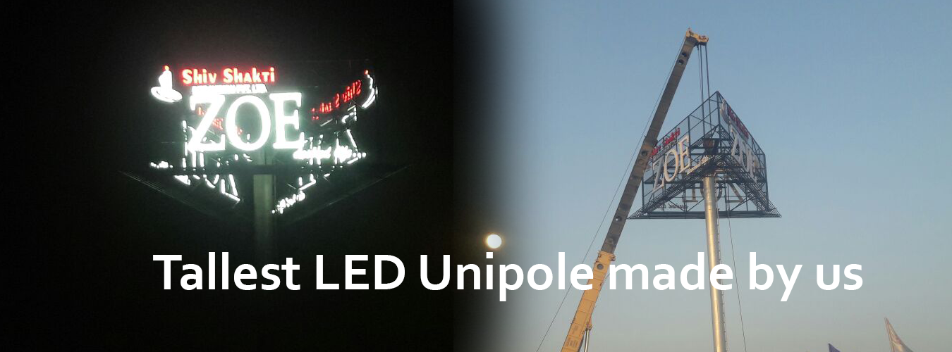 LED Unipole advertising services